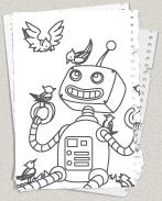 roboter ausmalbildercom � kostenlose malvorlagen f252r